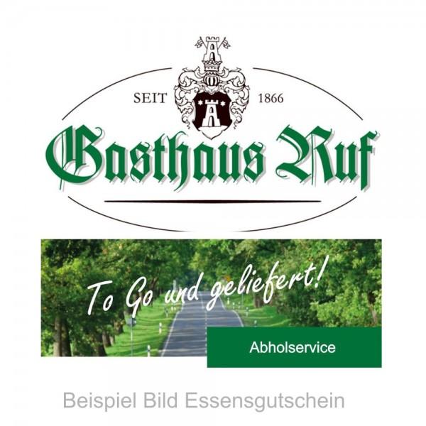 ** Gasthaus Ruf ** Geschenkgutschein im Wert von 20.- €